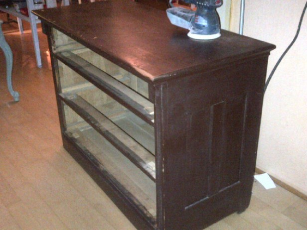 Three drawer dresser before
