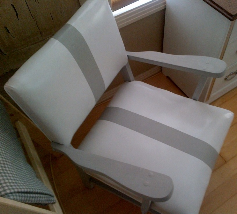 White and grey Vintage Chair