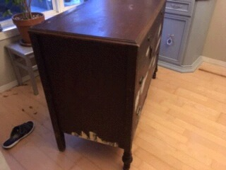 antique dresser before